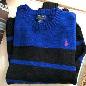 New Boy's Polo Ralph Lauren Blue Black Sweater XL